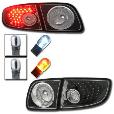 Headlights & Tail Lights - Led Tail Lights - Custom - Black Housing Euro Clear LED Taillights