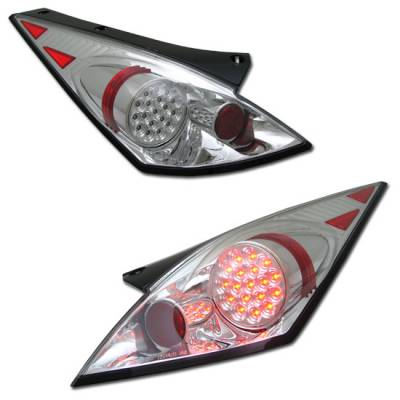 Headlights & Tail Lights - LED Tail Lights - Custom - Euro Chrome Clear LED Taillights