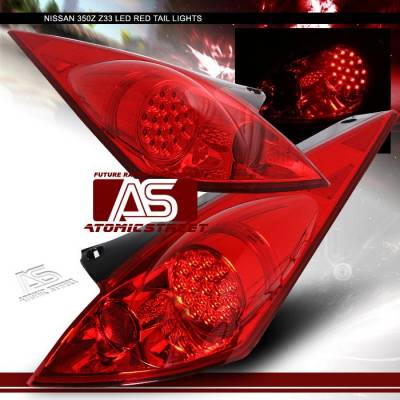 Headlights & Tail Lights - LED Tail Lights - Custom - JDM Red LED Taillights