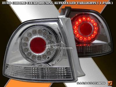 Headlights & Tail Lights - Led Tail Lights - Custom - Chrome  Clear Altezza  LED Taillights