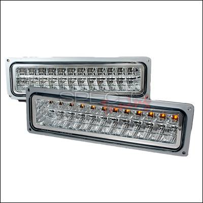 Headlights & Tail Lights - Corner Lights - Spec-D - Chevrolet C10 Spec-D LED Bumper Lights - Chrome - 2LB-C1088CLED-KS