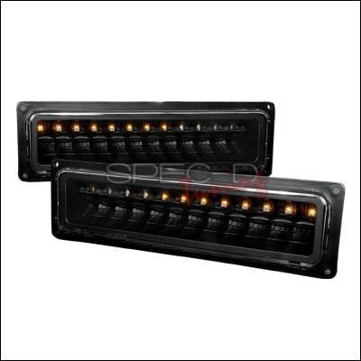 Headlights & Tail Lights - Corner Lights - Spec-D - Chevrolet C10 Spec-D LED Bumper Lights - Black - 2LB-C1088JMLED-KS