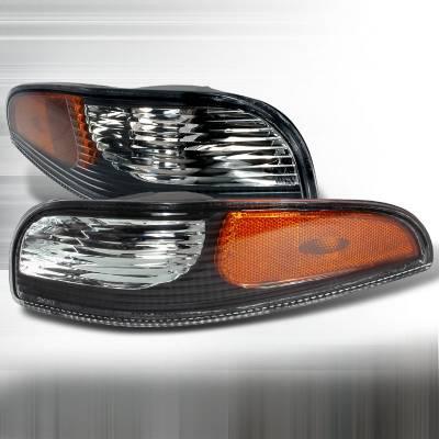 Headlights & Tail Lights - Corner Lights - Spec-D - Chevrolet Corvette Spec-D Bumper Lights - Black - 2LB-CVET97JM-KS