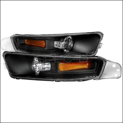 Headlights & Tail Lights - Corner Lights - Spec-D - Ford Mustang Spec-D Bumper Lights - Black - 2LB-MST05JM-TM