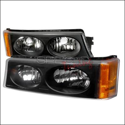 Headlights & Tail Lights - Corner Lights - Spec-D - Chevrolet Silverado Spec-D Bumper Lights - Black - 2LB-SIV04JM-KS