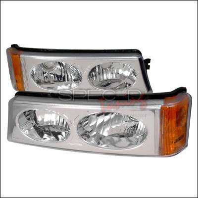 Headlights & Tail Lights - Corner Lights - Spec-D - Chevrolet Silverado Spec-D Bumper Lights - Chrome - 2LB-SIV04-KS