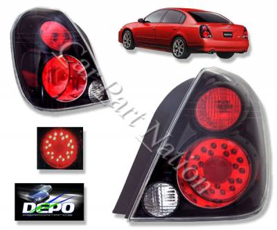 Headlights & Tail Lights - LED Tail Lights - Custom - JDM BLack Housing LED Taillights