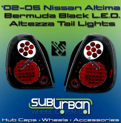 Headlights & Tail Lights - LED Tail Lights - Custom - Bermuda Black LED Altezza Taillights