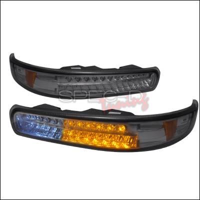 Headlights & Tail Lights - Corner Lights - Spec-D - Chevrolet Tahoe Spec-D LED Bumper Lights - Smoke - 2LB-SIV99GLED-KS