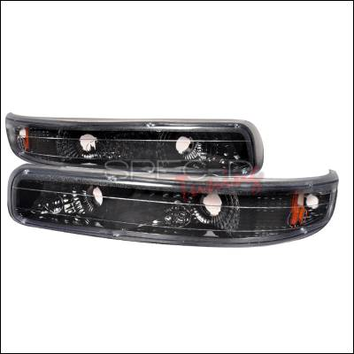 Headlights & Tail Lights - Corner Lights - Spec-D - Chevrolet Suburban Spec-D Bumper Lights - Black - 2LB-SIV99JM-RS