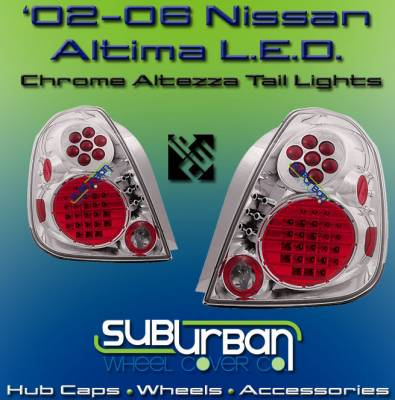 Headlights & Tail Lights - LED Tail Lights - Custom - Chrome Housing Crystal LED Taillights