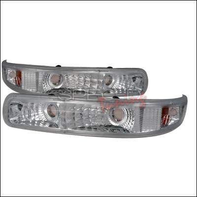 Headlights & Tail Lights - Corner Lights - Spec-D - Chevrolet Suburban Spec-D Bumper Lights - Chrome - 2LB-SIV99-RS