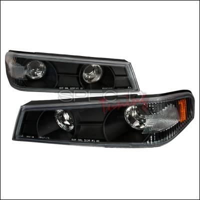 Headlights & Tail Lights - Corner Lights - Spec-D - GMC Canyon Spec-D Corner Lights - Black - 2LC-COL04JM-TM