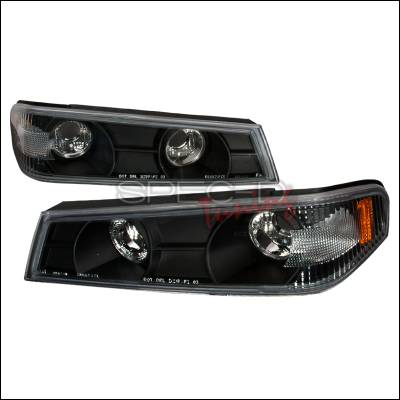 Headlights & Tail Lights - Corner Lights - Spec-D - Chevrolet Colorado Spec-D Corner Lights - Black - 2LC-COL04JM-TM