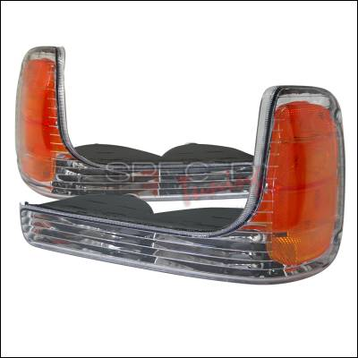 Headlights & Tail Lights - Corner Lights - Spec-D - Cadillac Escalade Spec-D Corner Lights - Chrome - 2LC-ECLD99-APC