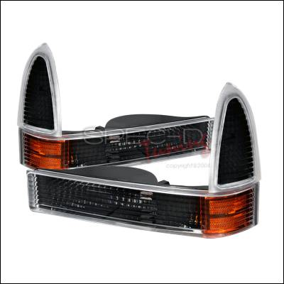 Headlights & Tail Lights - Corner Lights - Spec-D - Ford F350 Spec-D Corner Lights - Black - 2LC-F25099JM-RS