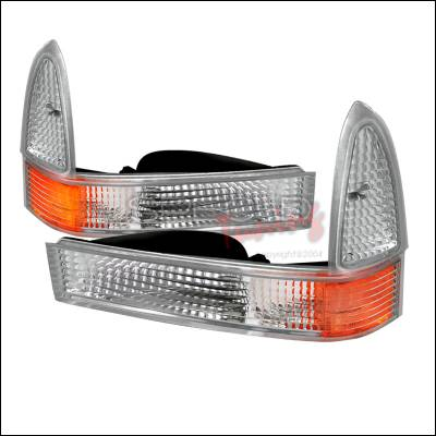 Headlights & Tail Lights - Corner Lights - Spec-D - Ford F350 Spec-D Corner Lights - Chrome - 2LC-F25099-RS