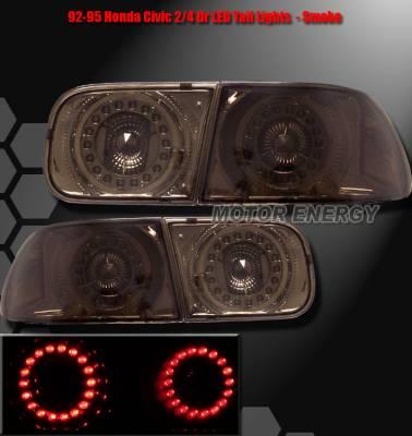 Headlights & Tail Lights - Led Tail Lights - Custom - JDM Smoked LED Taillights