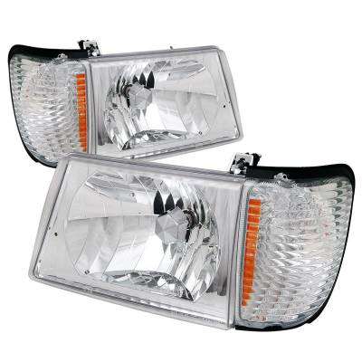 Headlights & Tail Lights - Corner Lights - Spec-D - Ford E-Series Spec-D Headlights - 2LCLH-ECON92-RS