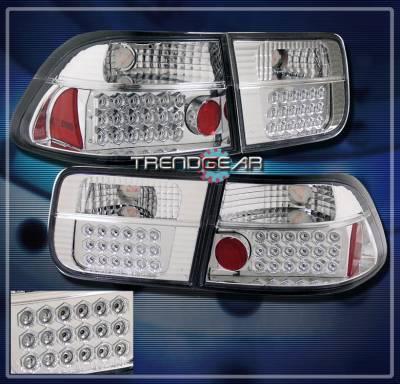 Headlights & Tail Lights - Led Tail Lights - Custom - JDM Chrome LED Taillights