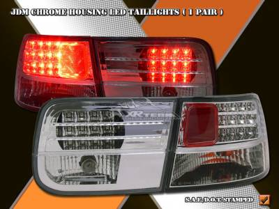 Headlights & Tail Lights - Led Tail Lights - Custom - Chrome Housing LED Taillights