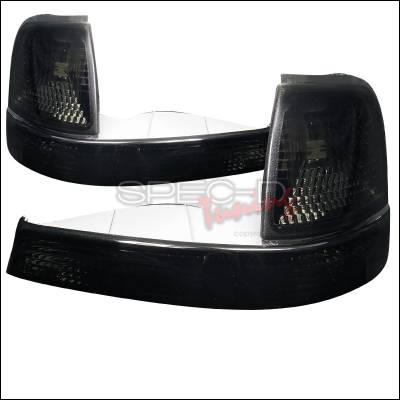 Headlights & Tail Lights - Corner Lights - Spec-D - Ford Ranger Spec-D Corner Lights - Smoked - 2LC-RAN98G-RS