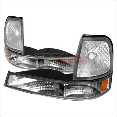 Headlights & Tail Lights - Corner Lights - Spec-D - Ford Ranger Spec-D Corner Lights - Chrome - 2LC-RAN98-KS
