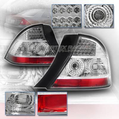 Headlights & Tail Lights - Led Tail Lights - Custom - Diamond Chrome LED Taillights