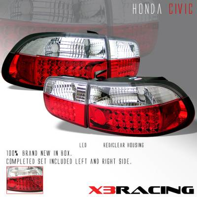Headlights & Tail Lights - Led Tail Lights - Custom - Red Clear Altezza LED Taillights