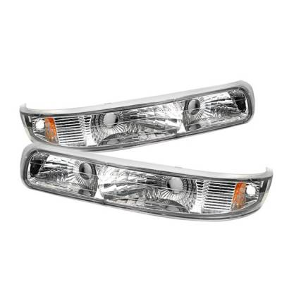 Headlights & Tail Lights - Corner Lights - Spyder - Chevrolet Silverado Spyder Amber Bumper Lights - Euro - CBL-CS99-E-AM