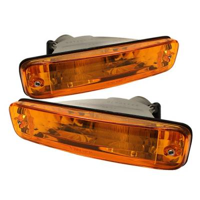 Headlights & Tail Lights - Corner Lights - Spyder - Acura Integra Spyder Bumper Lights - Amber - CBL-DP-AI90-AM