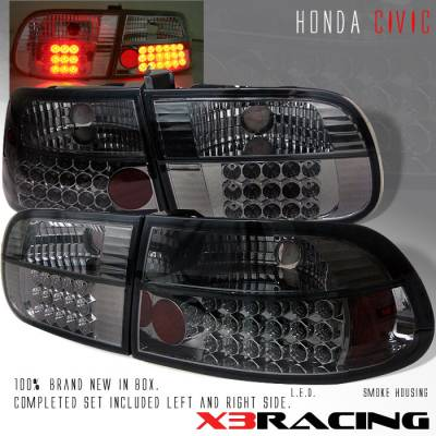 Headlights & Tail Lights - Led Tail Lights - Custom - Smoke Altezza LED Taillights