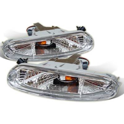Headlights & Tail Lights - Corner Lights - Spyder - Mazda MX5 Spyder Bumper Lights - Clear - CBL-DP-MMX590-C