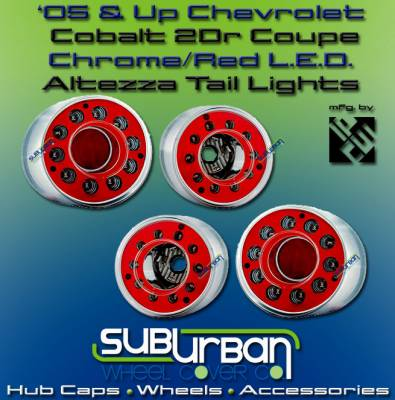 Headlights & Tail Lights - LED Tail Lights - Custom - Red Chrome LED Taillights