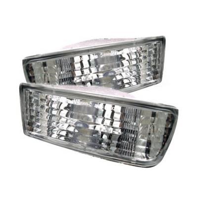 Headlights & Tail Lights - Corner Lights - Spyder - Toyota 4Runner Spyder Bumper Lights - Clear - CBL-DP-T499-C