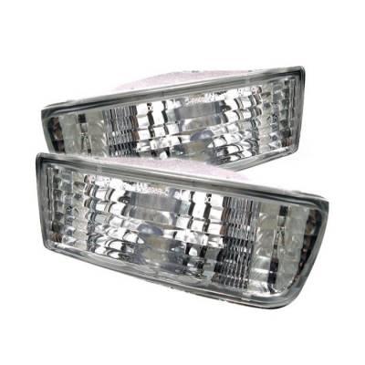 Headlights & Tail Lights - Corner Lights - Spyder Auto - Toyota 4Runner Spyder Bumper Lights - Clear - CBL-DP-T499-C