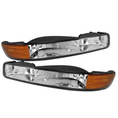 Headlights & Tail Lights - Corner Lights - Spyder - GMC Yukon Spyder Bumper Lights Amber - Chrome - CBL-GS99-AM-E