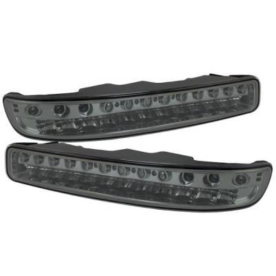 Headlights & Tail Lights - Corner Lights - Spyder - GMC Sierra Spyder Full LED Bumper Lights - Smoke - CBL-GS99-LED-SM