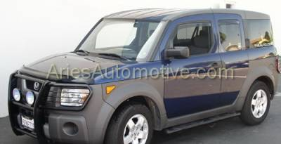 Suv Truck Accessories - Running Boards - Aries - Honda Element Aries Oval Sidebars - 45 Degree Raised Pad