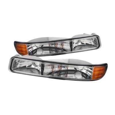 Headlights & Tail Lights - Corner Lights - Spyder Auto - GMC Sierra Spyder Bumper Lights - Chrome - CBL-ON-GS99-AM-C