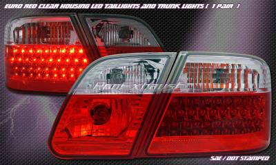 Headlights & Tail Lights - Led Tail Lights - Custom - Euro Red Clear Taillights
