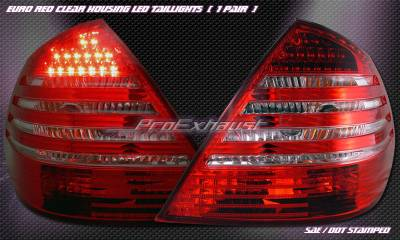 Headlights & Tail Lights - Led Tail Lights - Custom - Euro Red LED Taillights