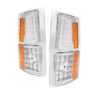 Headlights & Tail Lights - Corner Lights - Spyder - Chevrolet CK Truck Spyder Amber Corner Lights - Euro - 4PC - CCL-CCK88-E-AM