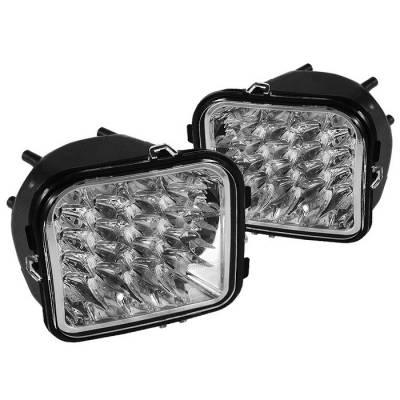 Headlights & Tail Lights - Corner Lights - Spyder - Hummer H3 Spyder LED Corner Lights - Clear - CCL-CL-HH306-LED-C