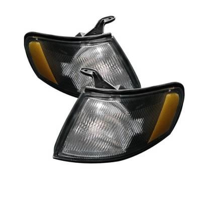Headlights & Tail Lights - Corner Lights - Spyder - Nissan 200SX Spyder Amber Corner Lights - Black - CCL-CL-NS95-AM-BK