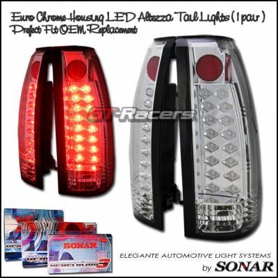 Headlights & Tail Lights - Led Tail Lights - Custom - Chrome LED Taillights