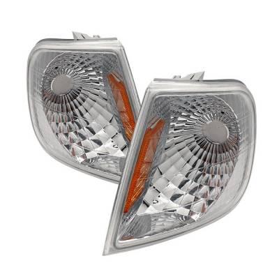 Headlights & Tail Lights - Corner Lights - Spyder - Ford F150 Spyder Amber Corner Lights - Euro - CCL-FF15097-E-AM