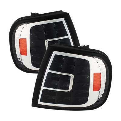 Headlights & Tail Lights - Corner Lights - Spyder - Ford F150 Spyder LED Corner Lights - Black - CCL-FF15097-LED-BK