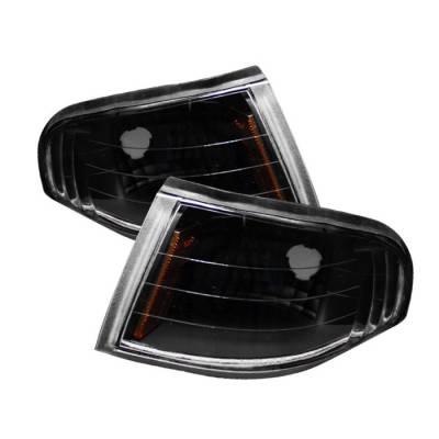 Headlights & Tail Lights - Corner Lights - Spyder - Ford Mustang Spyder Amber Corner Lights - Black - CCL-FM94-BK-AM
