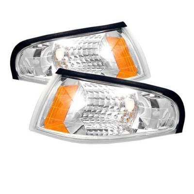 Headlights & Tail Lights - Corner Lights - Spyder - Ford Mustang Spyder Amber Corner Lights - Euro - CCL-FM94-E-AM